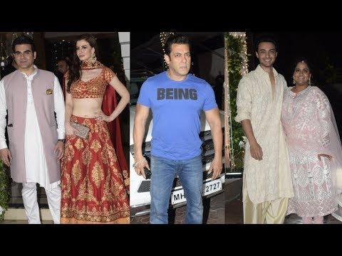 Salman Khan with Family at Shilpa Shetty's House for Diwali Celebration