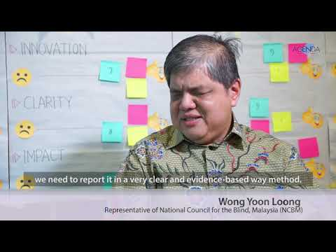Image of the video: AGENDA Interview with Malaysian Disability Rights Advocate