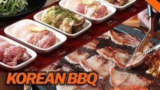 BEST KOREAN PORK BELLY AT KBBQ (8 Flavors) // Fung Bros Food