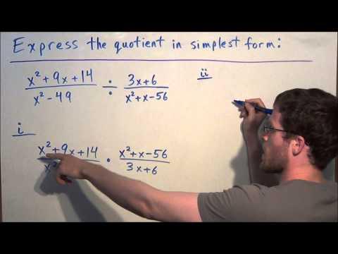 Dividing Rational Expressions - Algebra