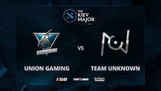 Union Gaming vs Team Unknown,The Kiev Major SA Main Qualifiers
