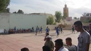 لقطات من المبارة الشرفية بين فريق ثانوية السعديين وفريق نادي العيون لكرة السلة