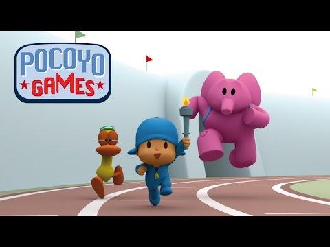 Pocoyo português Brasil - Pocoyo Games – Revezamento da tocha [recopilação]