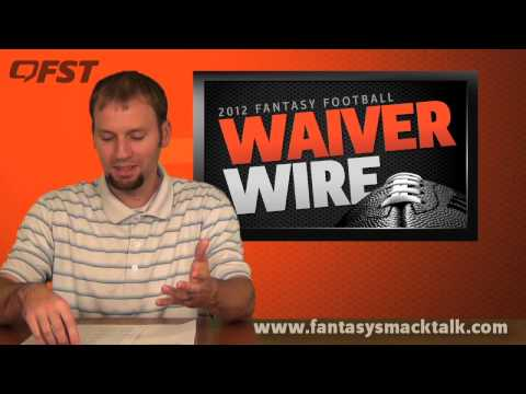 2012 Fantasy Football – Week 10 Waiver Wire Pick Ups