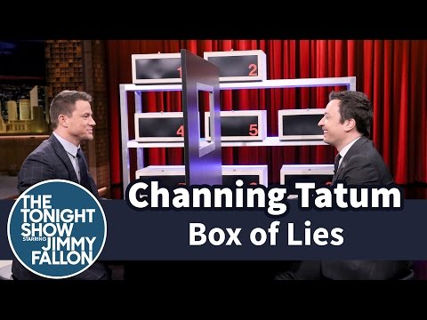 CHANNING TATUM - Jimmy and Channing take turns trying to stump each other about what item is hidden inside their mystery boxes. Subscribe NOW to The Tonight Show Starring Jim...