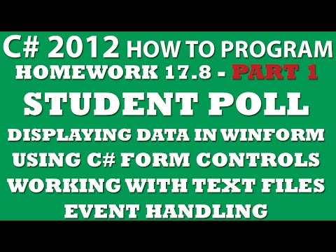 C# Programming Challenge 17.8: Student Poll Part 1 (C# Winforms, C# Form Controls, C# Working with Text Files)