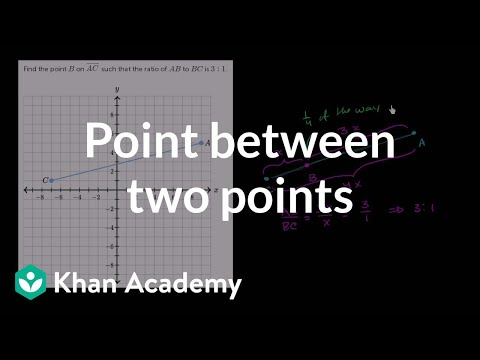Dividing Line Segments Graphical Video Khan Academy