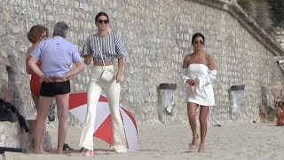 Video Exclusive - Kendall Jenner and Kourtney Kardashian take a walk on the beach in Cannes MP3, 3GP, MP4, WEBM, AVI, FLV Mei 2017