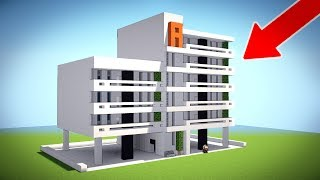 Minecraft: How To Build A Large Modern House Tutorial - Modern Apartment/ Mansion Tutorial