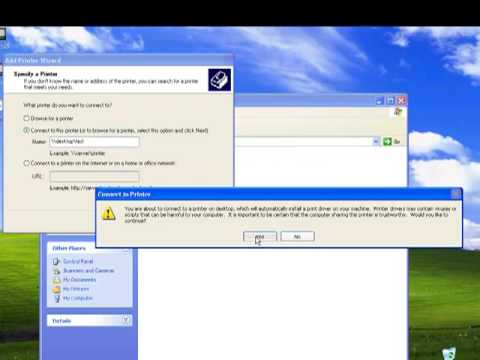 How to set up a Network Printer on XP