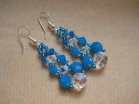 Orecchini con Swarovski crystal e blue