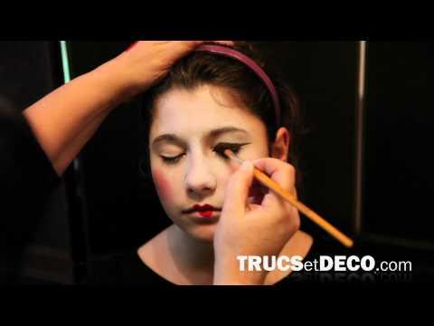 Maquillage de geisha - Tutoriel par trucsetdeco.com