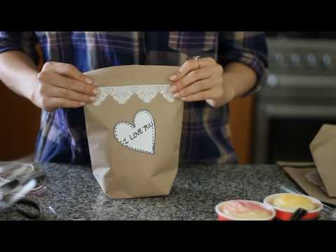 paper bag - Use this tutorial to make your own paper bag or gift bag! We used brown paper gift wrap in this tutorial, but any type of wrapping paper works well. Use it t...