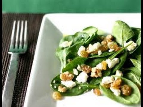 Flat Stomach Diet Recipes – Recipes to Lose Weight: Spinach Salad
