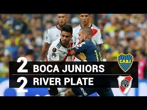 Boca Juniors 2 x 2 River Plate - JOGAÇO ! - MELHORES MOMENTOS E GOLS - 11/11/18