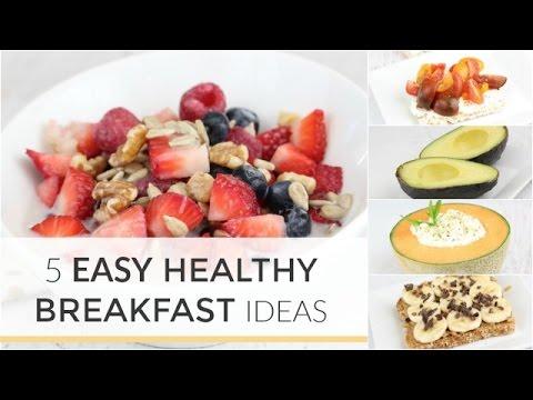 5 Easy Healthy Breakfast Ideas in Under 5 Minutes (видео)