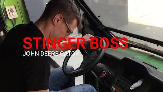 10. The Stinger BOSS operating a John Deere Gator Utility Vehicle