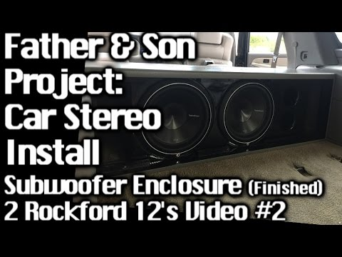 Father & Son Project – Sound System Install GMC Yukon – 2 12's – Speaker Box Finished Video #2