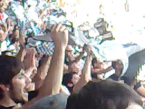 'Curva Verona' en el estadio Dino Manuzzi