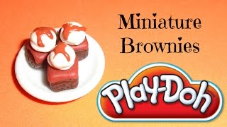 Doll and LPS Food - Play Doh Brownies with Ice Cream Tutorial - YouTube