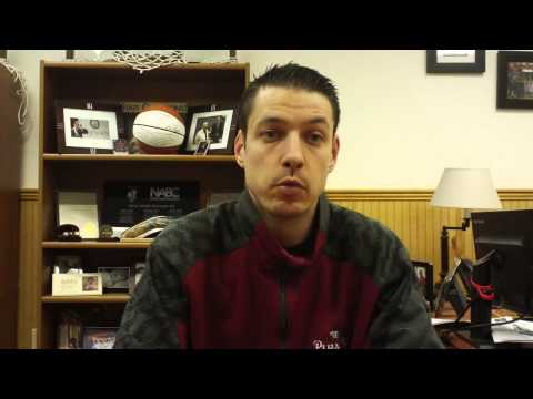 Matt Logie men's basketball Feb. 9, 2015