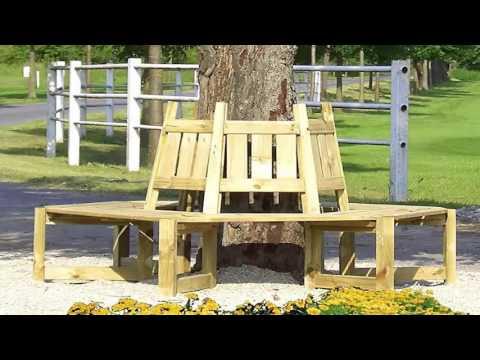Baumbank selber bauen oder Baumbank rund bauen | Holz Rundbank Ratgeber
