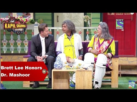 Video The Kapil Sharma Show - Brett Lee Honors Dr. Mashoor Gulati download in MP3, 3GP, MP4, WEBM, AVI, FLV January 2017