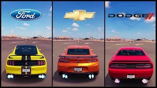 Nonton Ultimate Muscle Car Battle! | Forza Horizon 3 | Shelby GT350R vs Camaro ZL1 vs Challenger Hellcat Film Subtitle Indonesia Streaming Movie Download