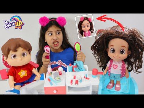 Minha boneca Maria Clara foi ao salão de beleza