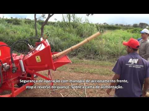 Triturador de Galhos PDF 150 HDR+AC picando bambú