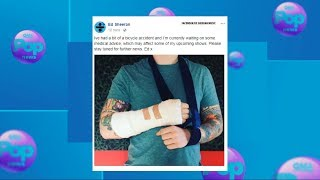 Ed Sheeran posts photo of broken arm after bicycle accident