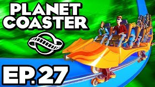 Planet Coaster Ep.27 - • DRAGONS IN THE PARK! STARTING GOOD GULLY MISS MOLLY! (Gameplay Let's Play)