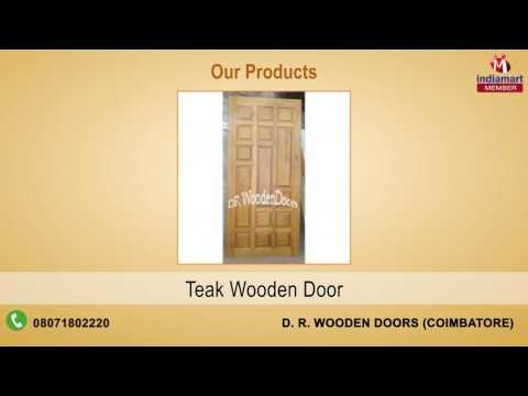 Manufacturer of Wooden Doors u0026 Designer Wooden Door by D. R. Wooden .  sc 1 st  gaml.us & Enchanting Wooden Doors Price In Coimbatore Ideas - Exterior ideas ...