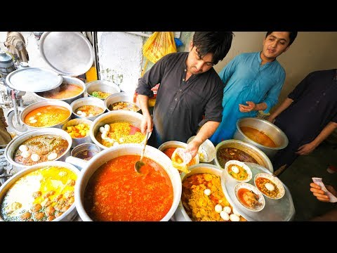 Street Food In Peshawar - SUPERHUMAN Curry + 100 Egg BIGGEST Chapli Kebabs + Pakistani Street Food!