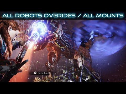 Horizon Zero Dawn All Robots Overrides / All Mounts SHOWCASE (видео)