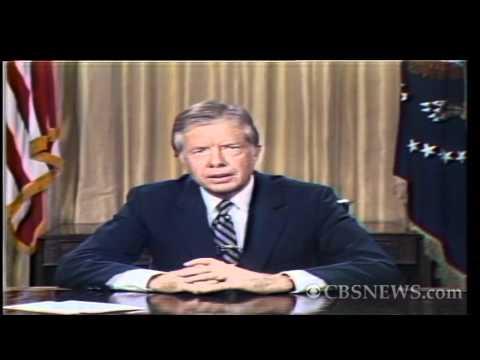 """CBS News archives: Carter's famous """"malaise speech"""""""