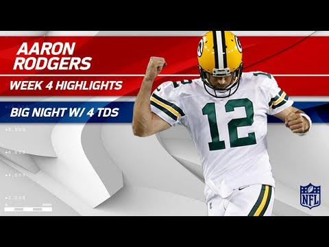 Video: Aaron Rodgers Dominates the Bears Defense w/ 4 TDs! | Bears vs. Packers | Wk 4 Player Highlights