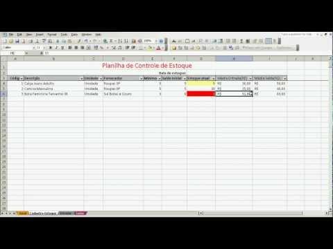 Planilhas De Estoque   Planilha Excel Para Controle De Estoque