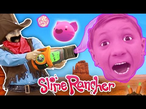 Gooey, Squishie Slimes Monsters vs. FGTEEV Sheriff (Slime Rancher Farm Gameplay / Skit) (видео)