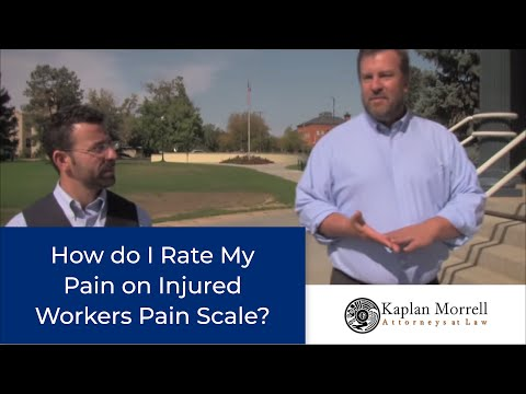 video:Denver Worker's Compensation Lawyers Explain Pain Scale And How Injured Workers Can Rate Their Pain