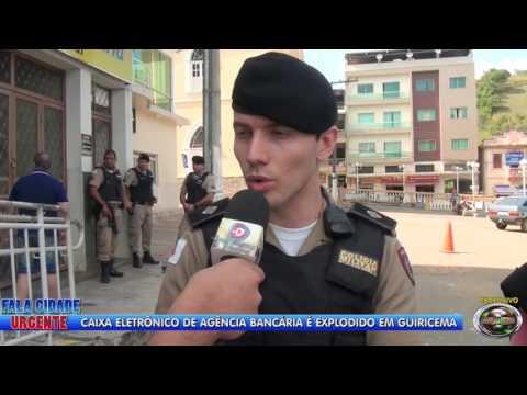 Márcio Goulart, o repórter cinematográfico registra a explosão dos caixas eletrônicos em Guiricema
