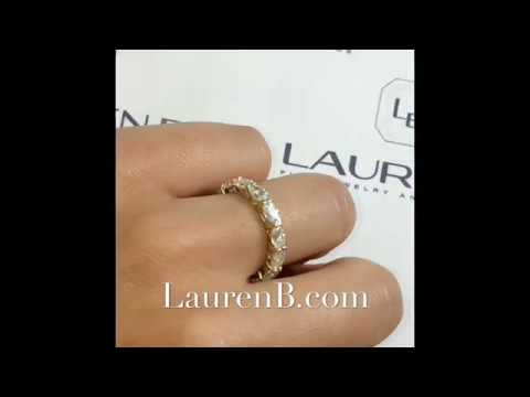Oval Cut Moissanite Eternity Band