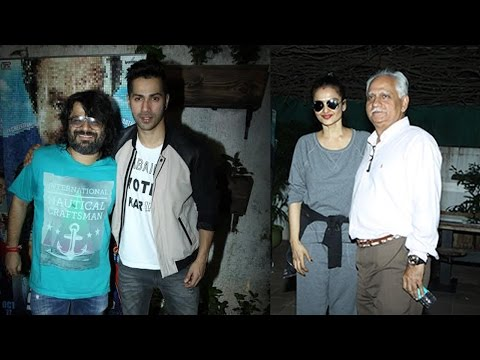 Rekha, Varun Dhawan And Other Celebs At Screening Of Film Sonali Cable