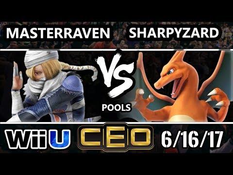 CEO 2017 Smash 4 - MasterRaven (Sheik) vs SharpyZard (Charizard) Wii U Tournament