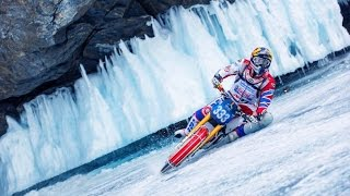 Bild Ice Speedway auf einem zugefrorenen See