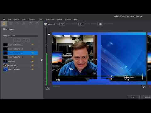 Creating Layered Interview Shots in Wirecast