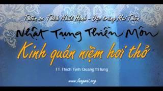 Kinh Quán Niệm Hơi Thở - Nhật Tụng Thiền Môn