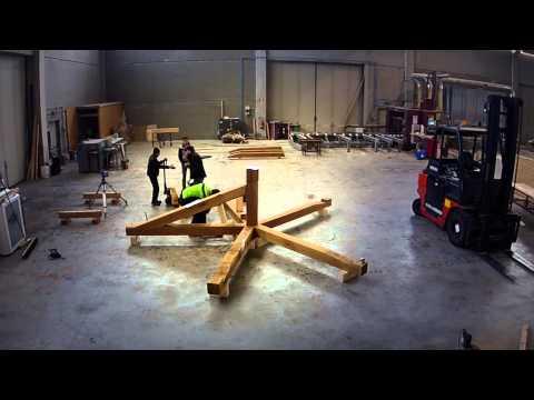 Tetto in legno a 5 falde - Pentagono