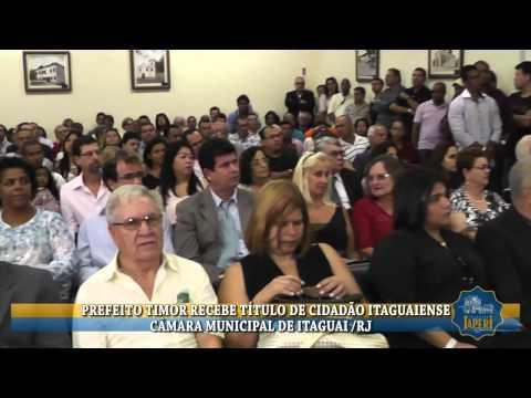 PREFEITOTIMOR RECEBE T�TULO DE CIDAD�O ITAGUAIENSE
