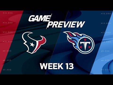 Video: Houston Texans vs. Tennessee Titans | NFL Week 13 Game Preview | NFL Playbook